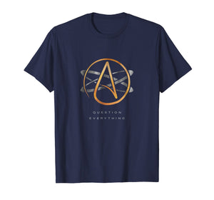 Atheist Logo Science Atom Symbol Question Everything T-Shirt