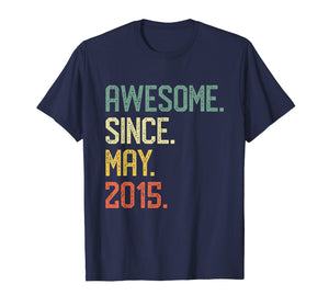 Awesome Since May 2015 T-Shirt Vintage 4th Birthday Gift