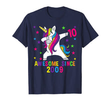 Ladda upp bild till gallerivisning, 10th Birthday T Shirt Dabbing Unicorn Awesome Since 2009