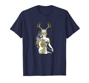 Witch T-Shirt - Village Witch Pagan Wicca Deer Skull