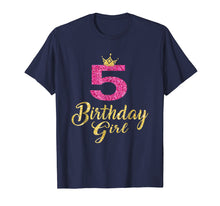 Ladda upp bild till gallerivisning, 5th Birthday Girl Princess Shirt 5 Years Old 5th Birthday