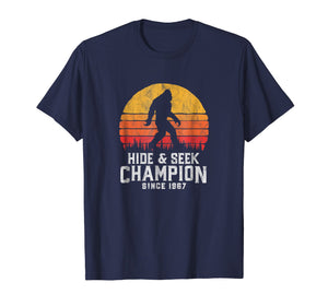 Retro Hide & Seek Champion Bigfoot T-Shirt - Believe!