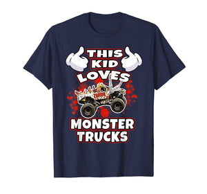 This Kid Loves Monster Trucks Tee Shirt
