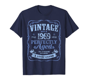 Vintage Made In 1969 T-Shirt 50th Birthday A Living Legend