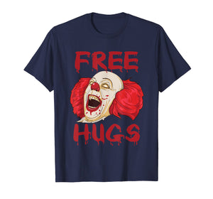 Funny shirts V-neck Tank top Hoodie sweatshirt usa uk au ca gifts for Free Hugs T Shirt Evil Killer Scary Clown Halloween Gift Tee 1182844