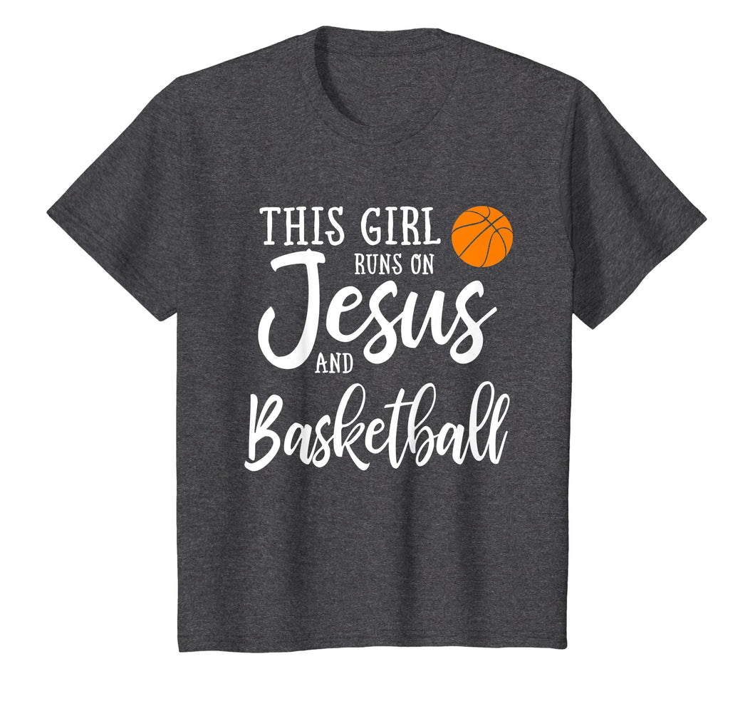 Funny shirts V-neck Tank top Hoodie sweatshirt usa uk au ca gifts for This Girl Runs On Jesus And Basketball Shirt Christian Gift 1252954