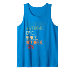 Legendary Awesome Epic Since October 1979 Birthday Gift Tank Top 1719600
