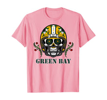 Ladda upp bild till gallerivisning, Funny shirts V-neck Tank top Hoodie sweatshirt usa uk au ca gifts for Green Bay Football Helmet Sugar Skull Day Of The Dead T-Shirt 297517