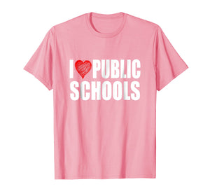 Funny shirts V-neck Tank top Hoodie sweatshirt usa uk au ca gifts for I Love Red Heart Public Schools Education Student T Shirt 2668630