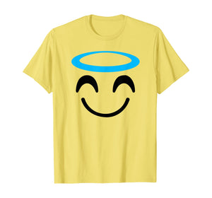 Halloween Emoji Costume Shirt Smiling Face With Halo Angel T-Shirt 194698