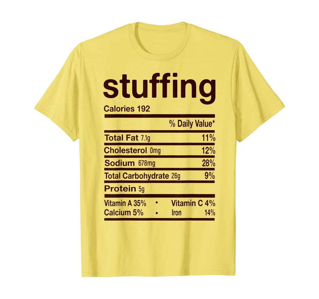 Funny Stuffing Nutrition Thanksgiving Costume Gift T-Shirt 155190