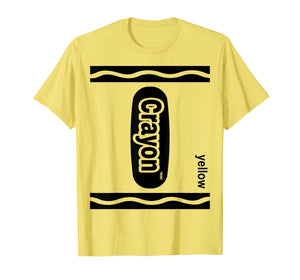 Lemon Yellow Crayon Box Halloween Costume Matching Couple  T-Shirt 450623