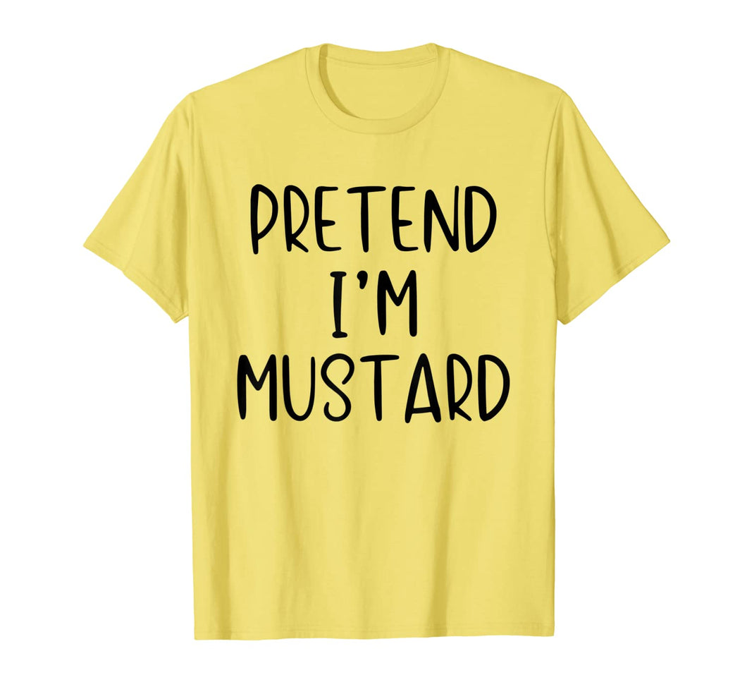 Pretend Mustard Costume Halloween Matching Ketchup Easy T-Shirt