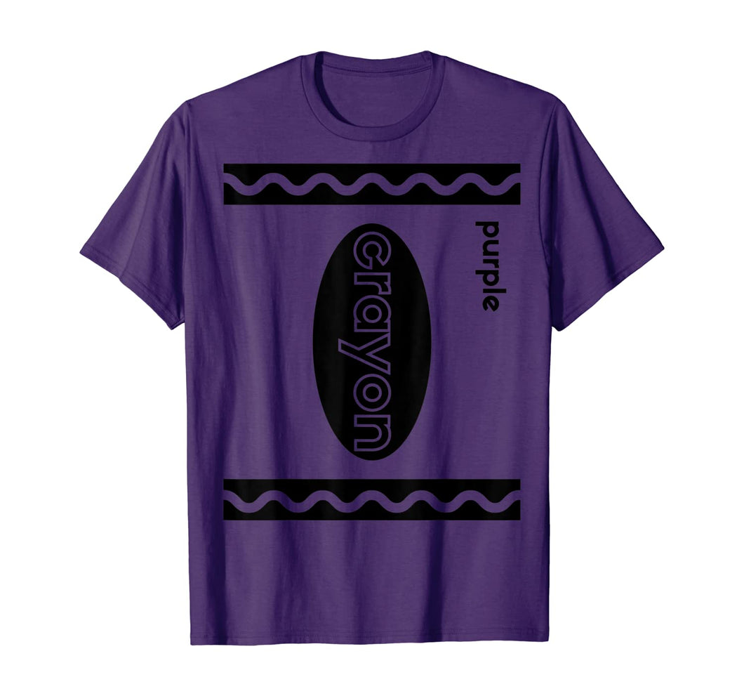 Funny Last Minute Group Costume Halloween | Purple Crayon T-Shirt 201393
