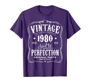 Vintage Made In 1980 T-Shirt 38th Birthday Gift