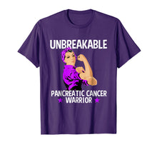 Ladda upp bild till gallerivisning, Pancreatic Cancer Awareness T Shirt Unbreakable Warrior Gift