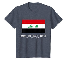 Ladda upp bild till gallerivisning, Support the protesters in Iraq Save the Iraqi People T-Shirt