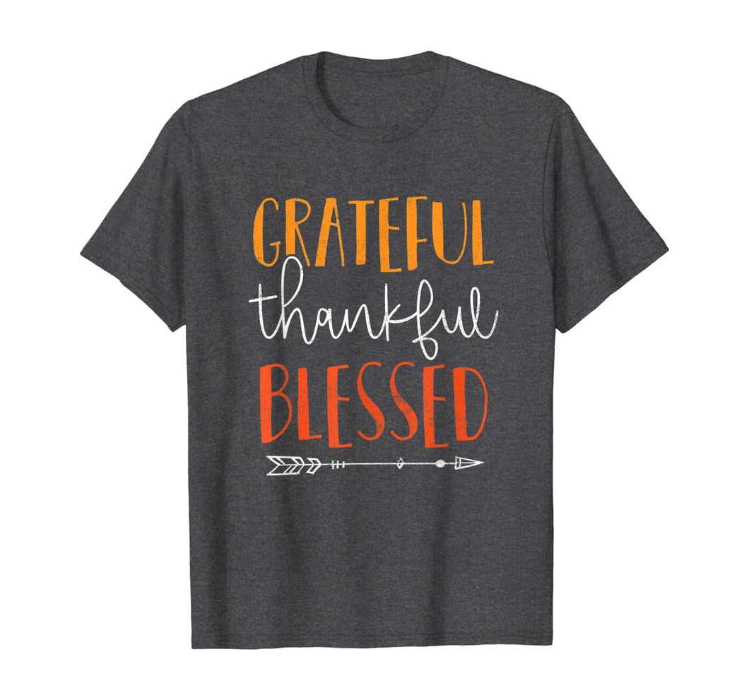 Cute Grateful Thankful Blessed Thanksgiving Gift Top T-Shirt 184998