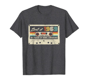 Vintage Best Of 1969 50th birthday Gift Retro Cassette Tape T-Shirt 368972
