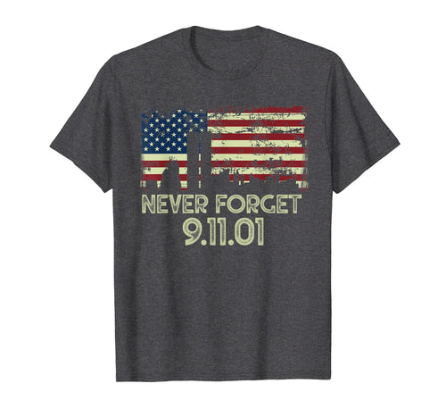 Never forget Patriotic 911 American Flag Vintage Gifts T-Shirt 334754