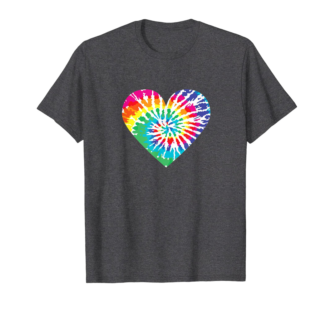 Tie Dyed Valentine's Day Shirt - Cute Tye-Dye Heart Tee