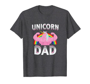Unicorn Dad T Shirt Rainbow Dad Of The Birthday Girl Gift