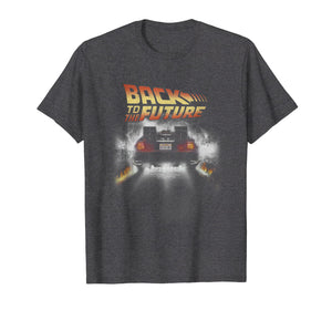 Back To The Future Vintage Delorean Peel Out Graphic T-Shirt