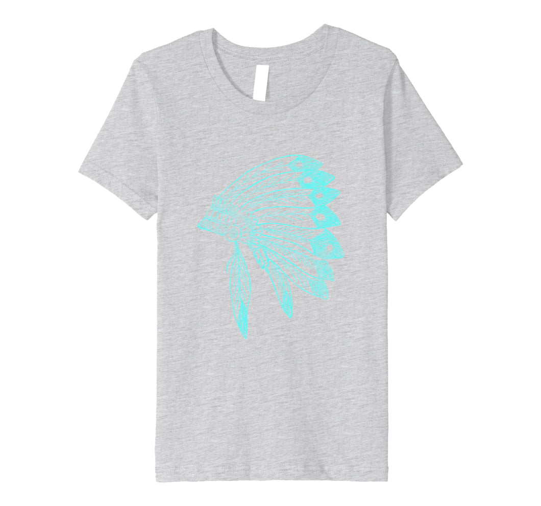 Funny shirts V-neck Tank top Hoodie sweatshirt usa uk au ca gifts for Native American Headdress - Fine Turquoise Distressed shirt 2728649