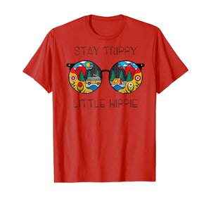Stay Trippy Little Hippie Glasses Hippie Camping Tshirt 218480