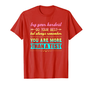 Test Day Shirt For Students Do Your Best T-Shirt
