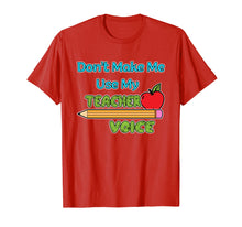 Ladda upp bild till gallerivisning, Funny shirts V-neck Tank top Hoodie sweatshirt usa uk au ca gifts for Dont make me use my teacher voice 1501954