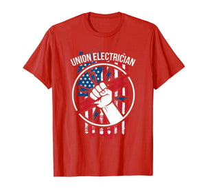 Union Electrician Shirts Gift For Electrical Workers