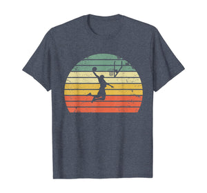 Vintage Retro Basketball Dunk Shirt Sunset Colorful T-Shirt 247095