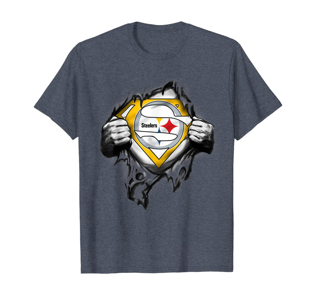 Halloween Superhero Football Pittsburgh-Steeler Fan T-Shirt 231121