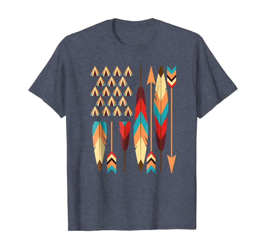 Native American Pride USA Flag T-Shirt 270826