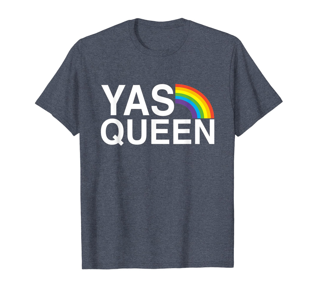 Funny shirts V-neck Tank top Hoodie sweatshirt usa uk au ca gifts for Yas Queen - Funny LGBT Gay Pride Flag Saying T-shirt 956816