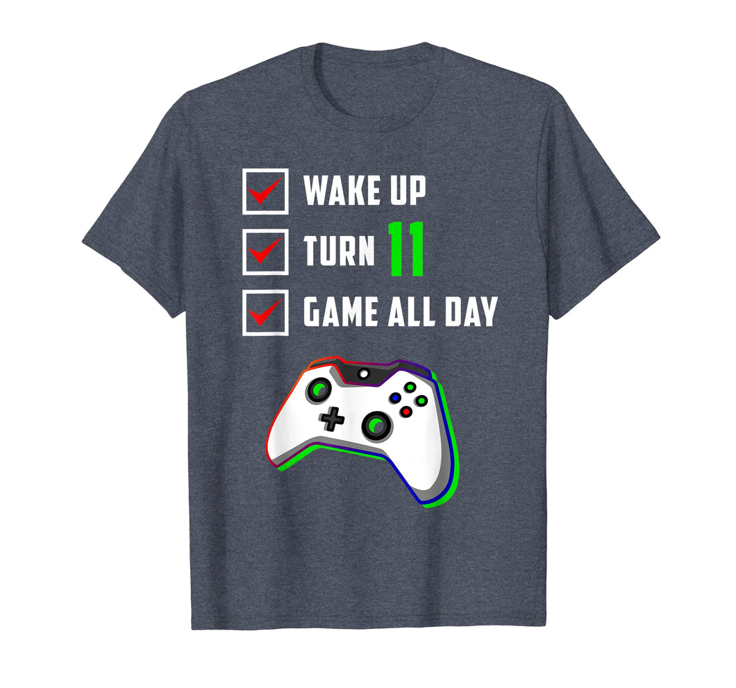 11th Birthday Gamer T Shirt Level 11 Unlocked Gamer Birthday