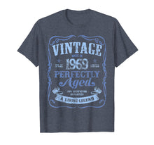 Ladda upp bild till gallerivisning, Vintage Made In 1969 T-Shirt 50th Birthday A Living Legend