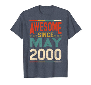 Awesome Since May 2000 Shirt 2000 19th Birthday Shirt
