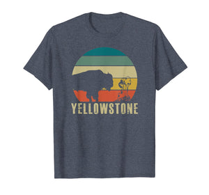 Retro Yellowstone National Park Vintage Buffalo Geyser Gift T-Shirt 325775