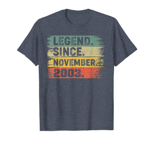Legend Since November 2003 16th Birthday Gifts 16 Years Old T-Shirt 333708