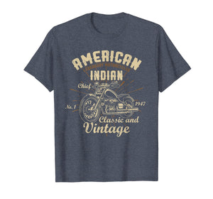 Retro Vintage American Motorcycle Indian for Old Biker Gifts T-Shirt 154656