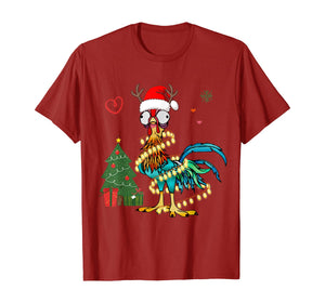 Funny shirts V-neck Tank top Hoodie sweatshirt usa uk au ca gifts for Chicken Christmas Reindeer Christmas Lights Pajama Costume T-Shirt 399599