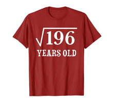 Ladda upp bild till gallerivisning, Funny shirts V-neck Tank top Hoodie sweatshirt usa uk au ca gifts for Square Root of 196 14 yrs years old 14th birthday T-Shirt 1043676
