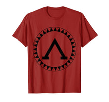 Ladda upp bild till gallerivisning, Spartan Shield T-Shirt Sparta Iliad Ancient Greece Greek Tee