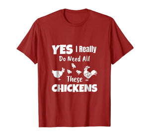Funny shirts V-neck Tank top Hoodie sweatshirt usa uk au ca gifts for Yes I Really Do Need All These Chickens Shirt Funny Farmers 1538444