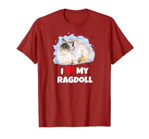 Funny shirts V-neck Tank top Hoodie sweatshirt usa uk au ca gifts for I Love My Ragdoll Cat T-Shirt 2919987