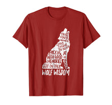 Ladda upp bild till gallerivisning, Wolf Wisdom Inspirational Wolves Motivational Advice Tshirt