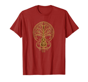 Acoustic Guitar Tree Of Life T-Shirt
