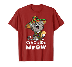 Cinco De Meow Shirt With Smiling Cat Taco And Sombrero